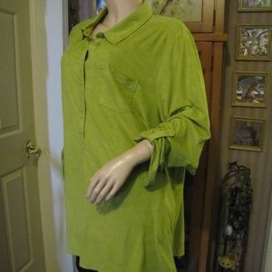 Catherine's Chartreuse Green Top Blouse 2X 22/24